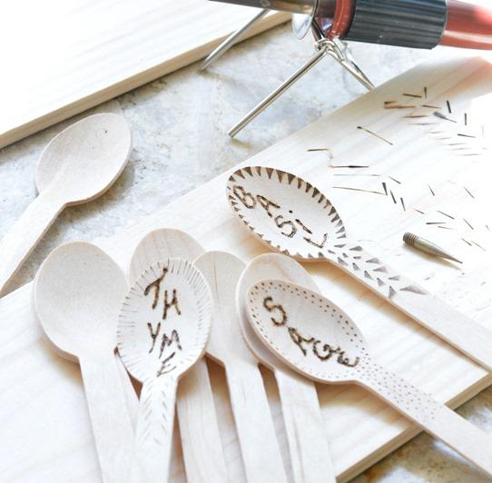 herb label spoons