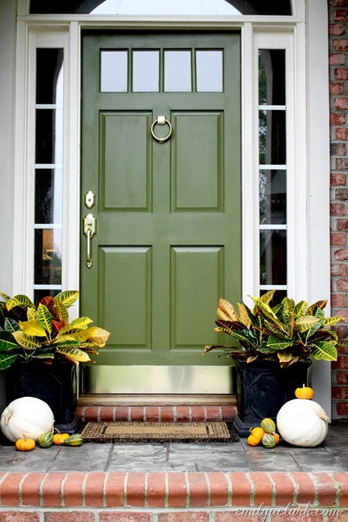 Olive Green Centsational Style - Green front door