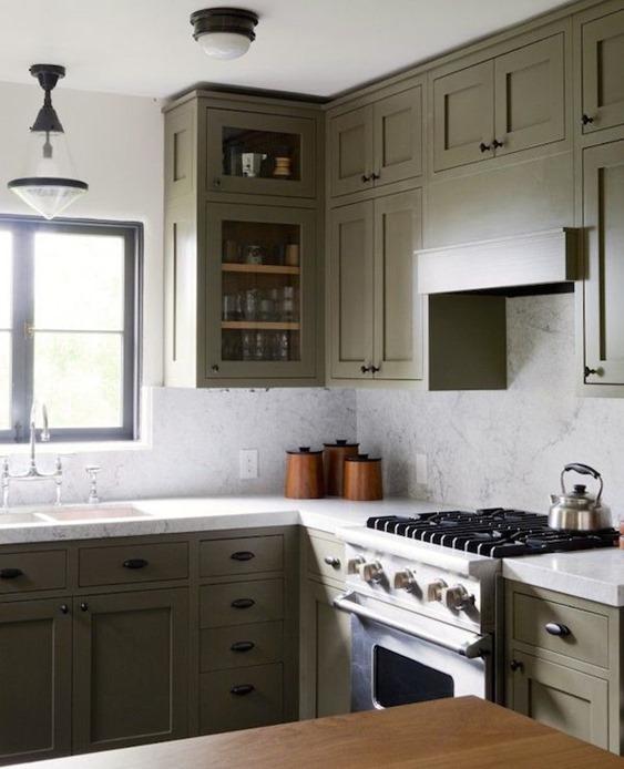 olive bark cabinets
