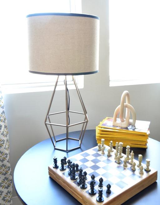 brass diamond lamp