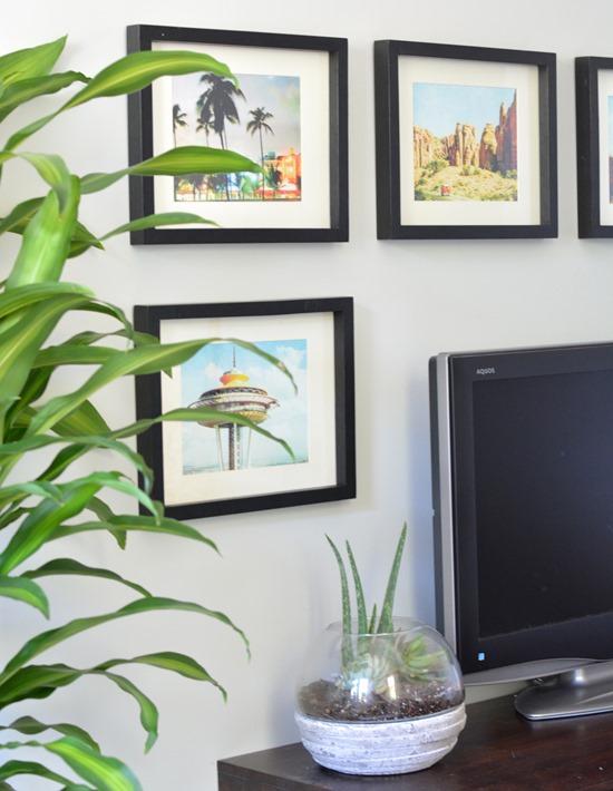 framed calendar prints
