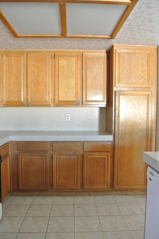 oak kitchen before