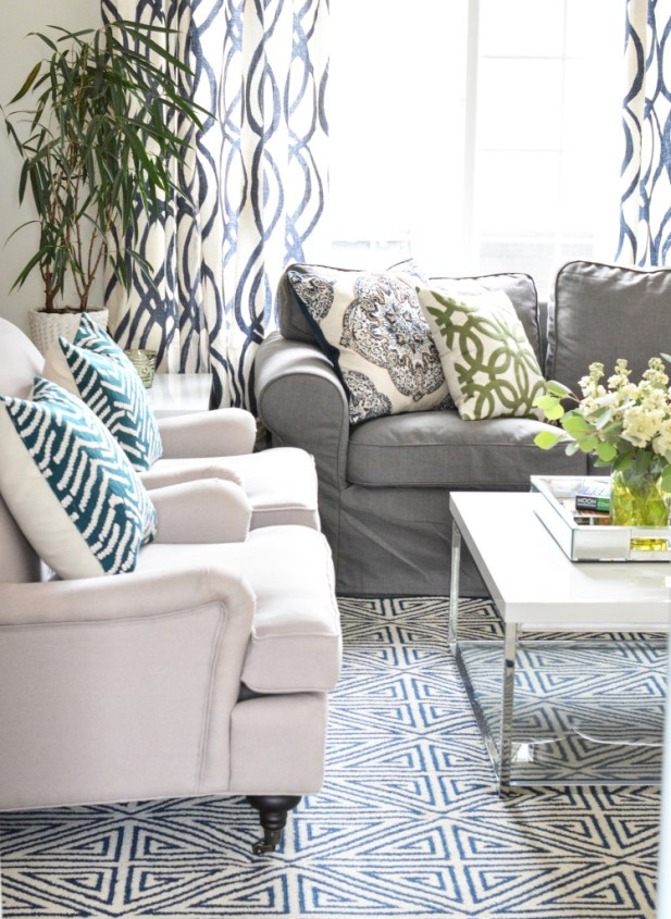 loveseat club chairs coffee table