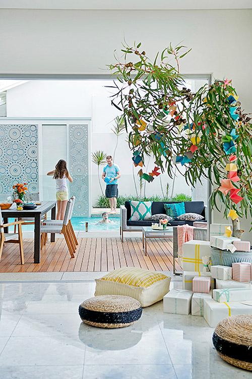decorated tree australian style