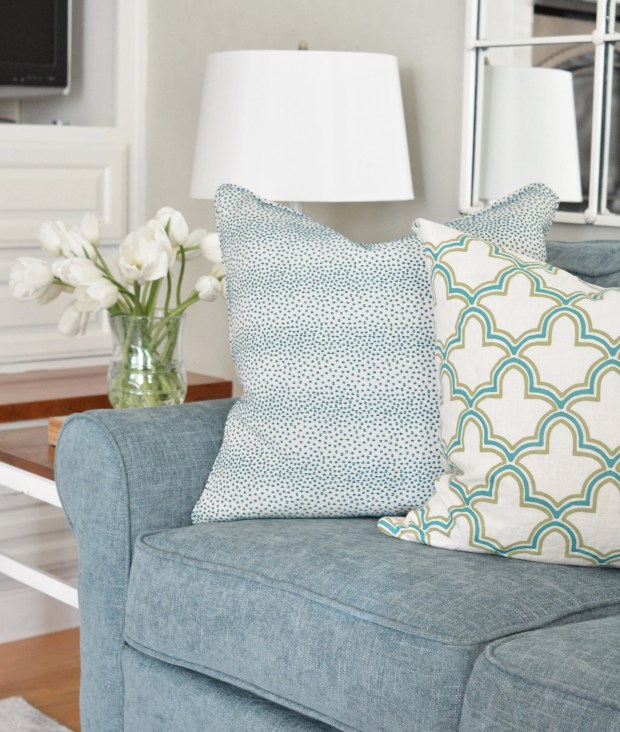 pillows on sectional