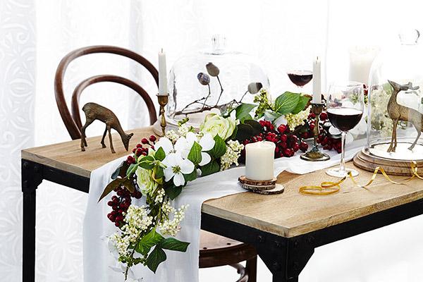summer christmas table