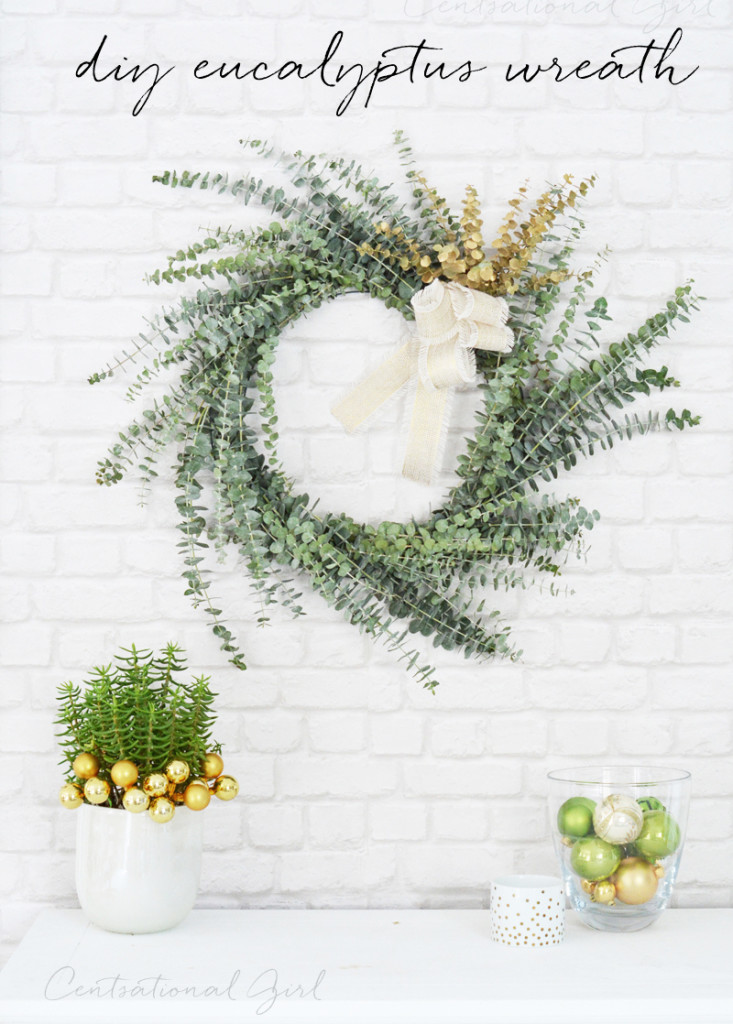diy simple eucalyptus wreath