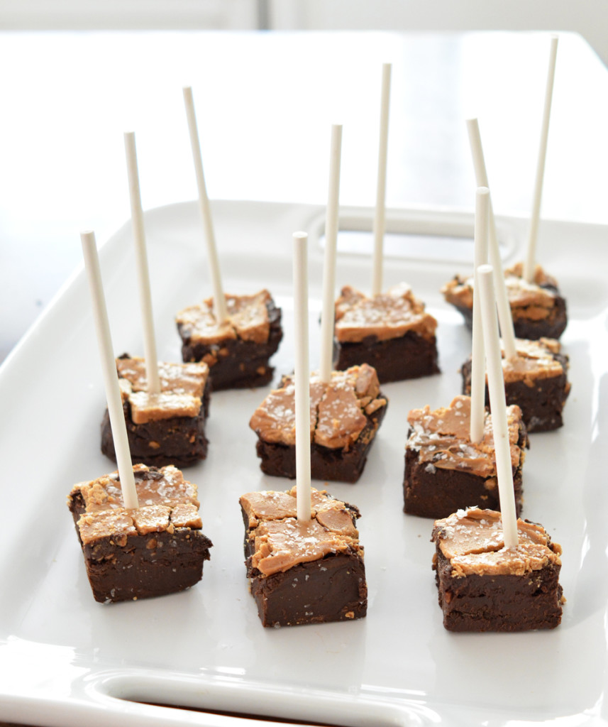 sea salt caramel fudge on a stick