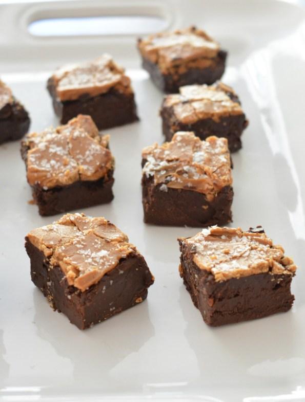 sea salt fudge squares