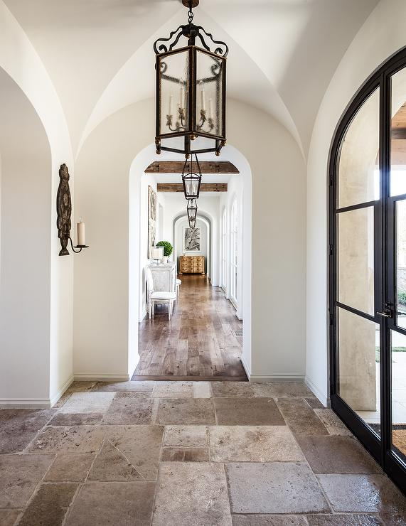 arched glass doors