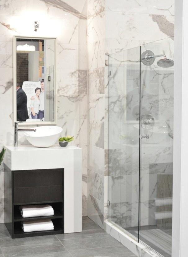 calcutta marble look porcelain tile