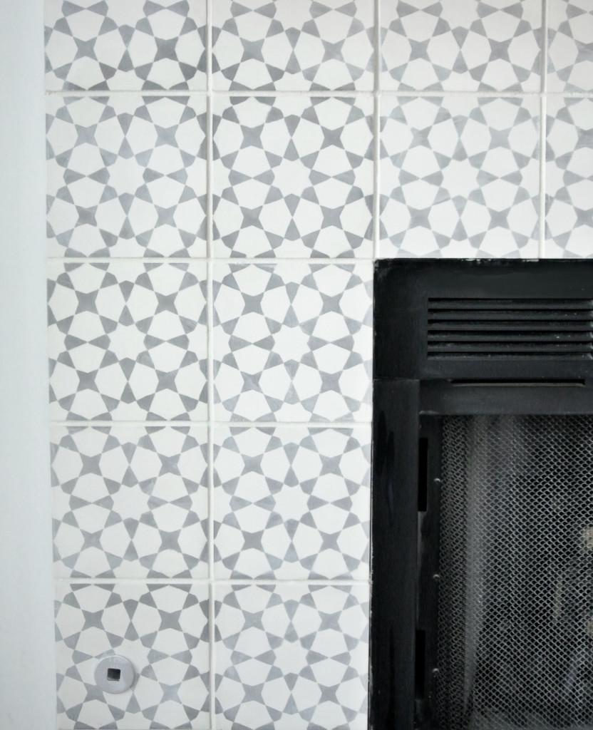 cement tile up close