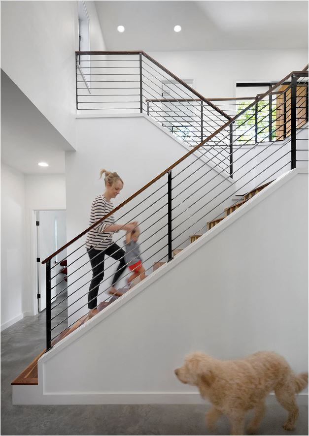 Modern Cable Stair Railing