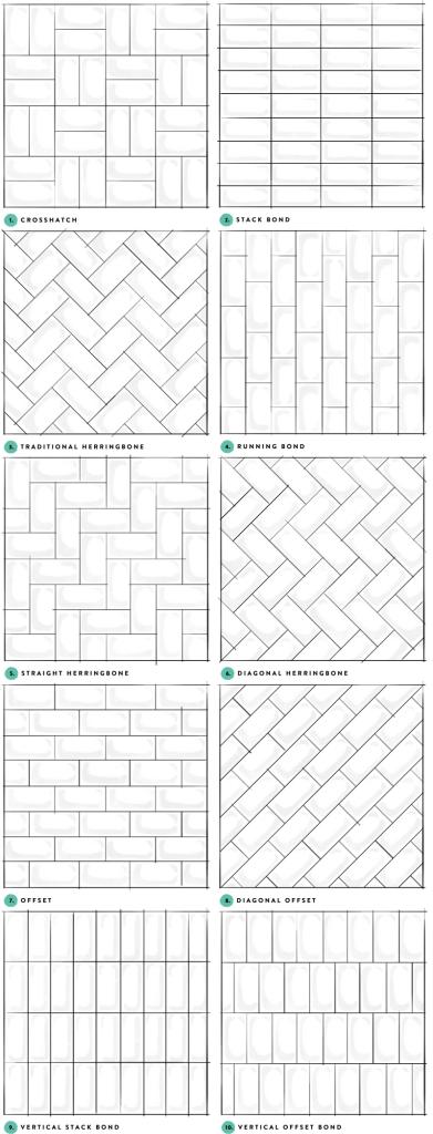 subway tile pattern samples