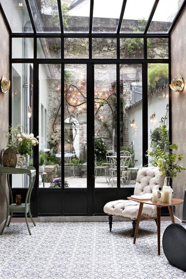 black windows conservatory