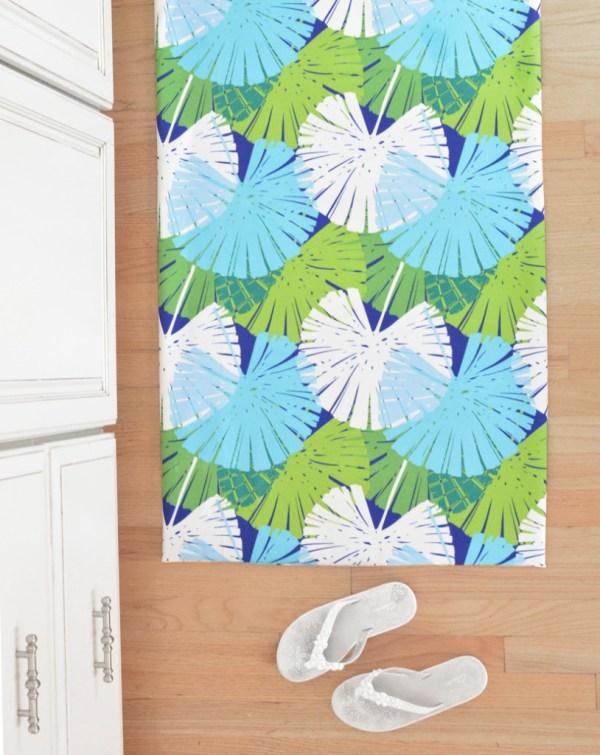 diy fabric floor mat
