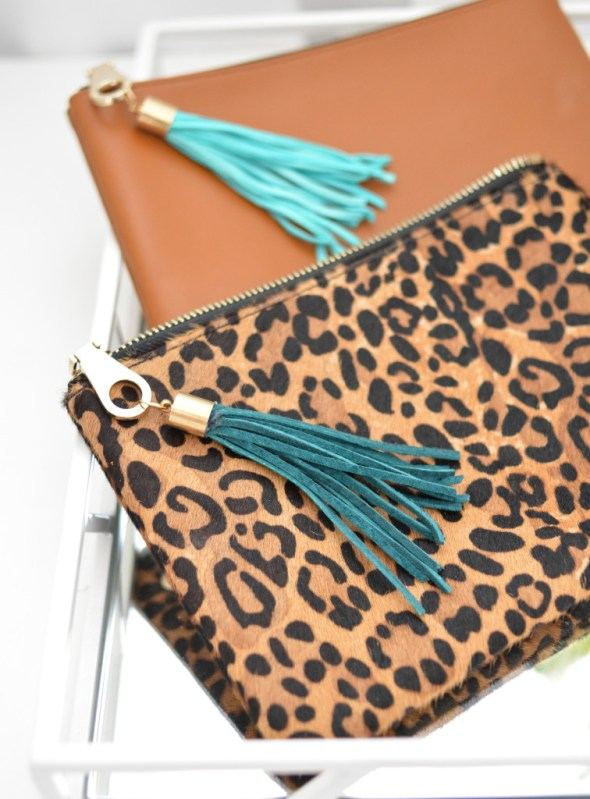 leather purse tassels