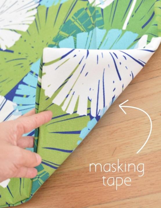 masking tape underneath