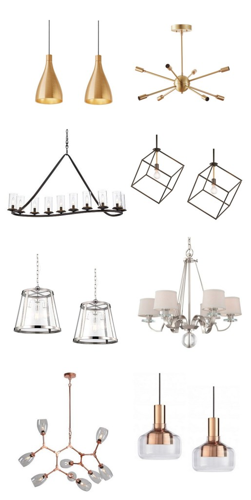 different fixtures matching finishes
