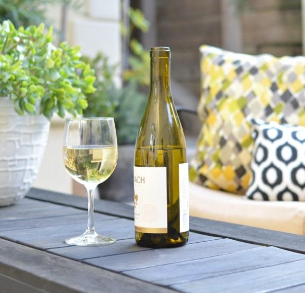 glass of chardonnay