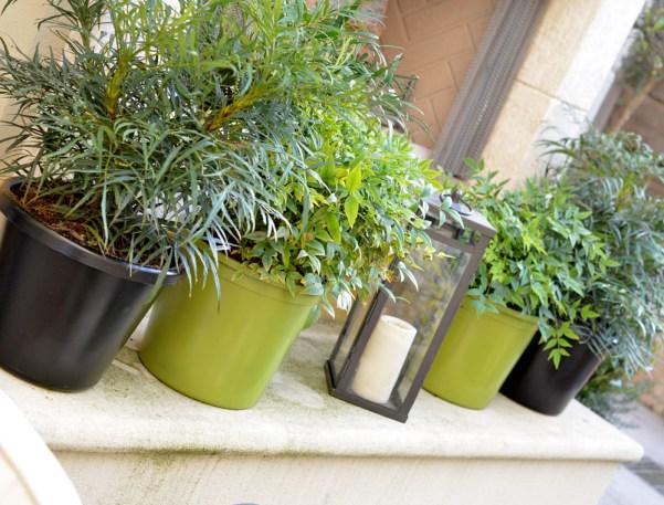 spray painted planters