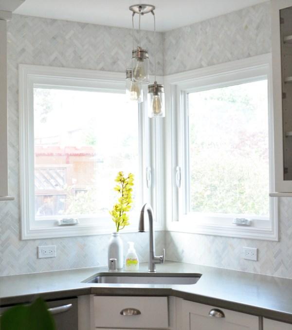 Kitchen Backsplash Tile Around Window: My Brother's Kitchen Remodel