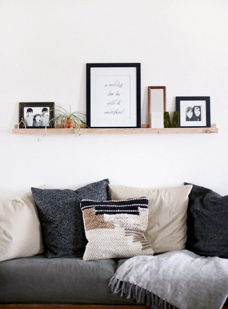 diy wood picture ledge merrythought