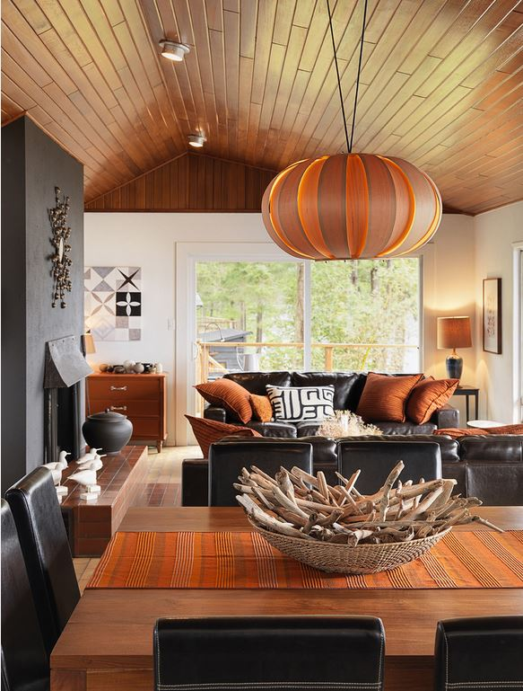 leather sofa masculine space