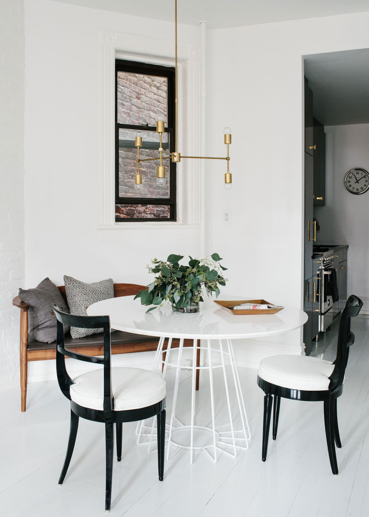 masculine casual dining space