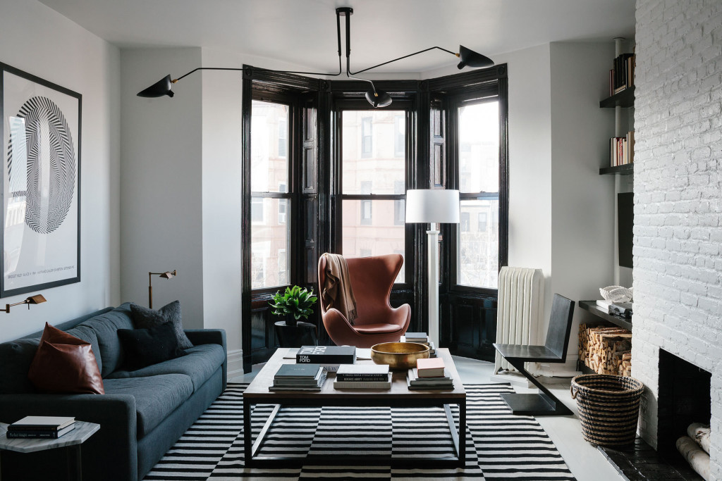 masculine living room space