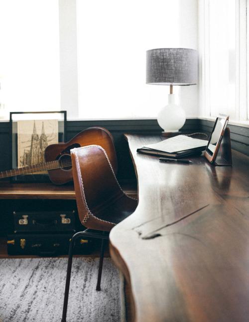 masculine office