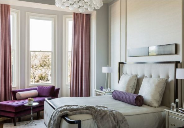 purple bedroom accents