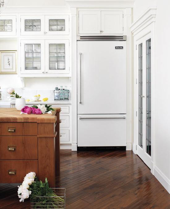 diagonal wood kitchen floor