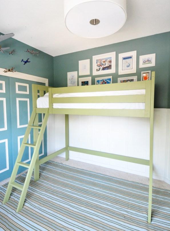 boys green loft bed