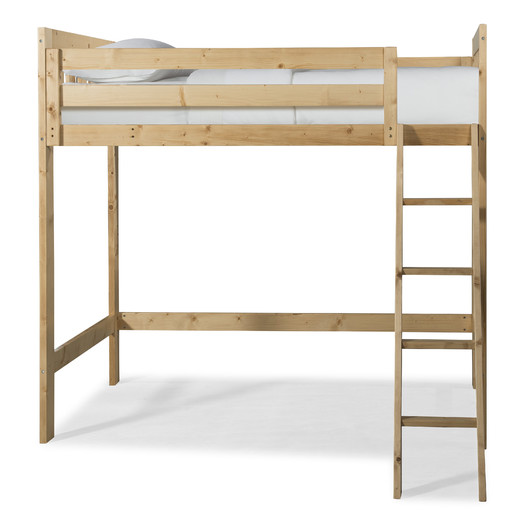 natural wood loft bed