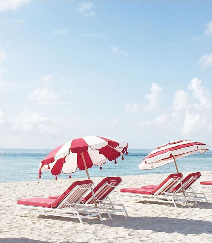 red and white beach umbrella