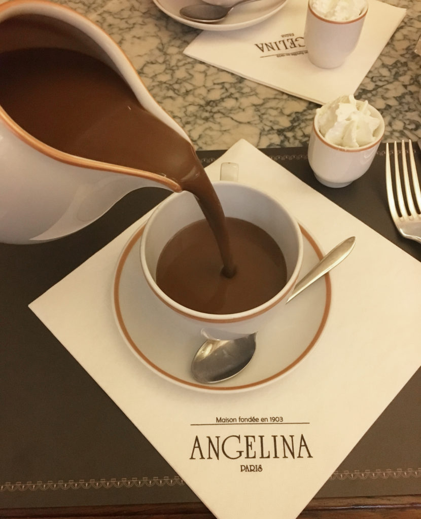 angelina pot of hot chocolate