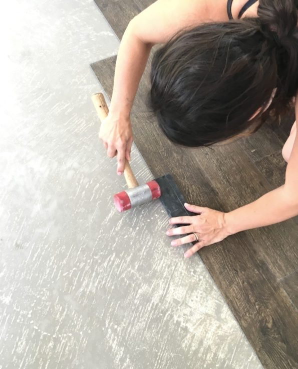 wedge and mallet for flooring
