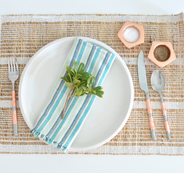copper bands flatware
