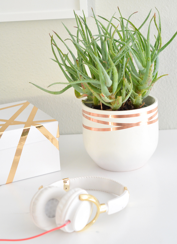 copper tape planter bands