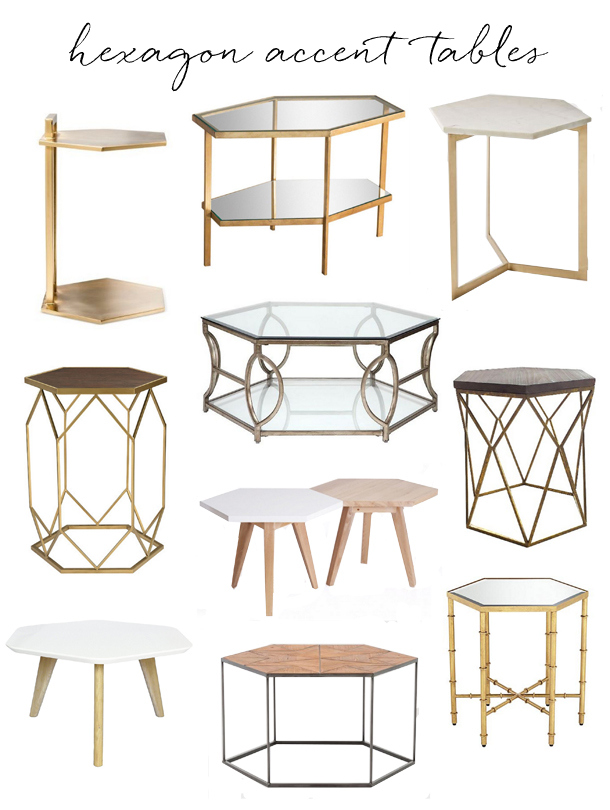 hexagon accent tables