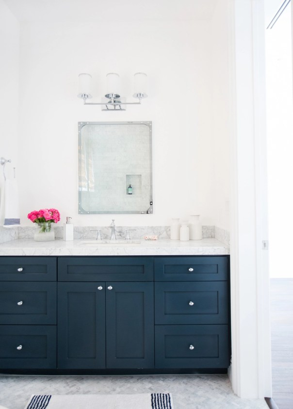 Blue Painted Bath Vanities Centsational Girl