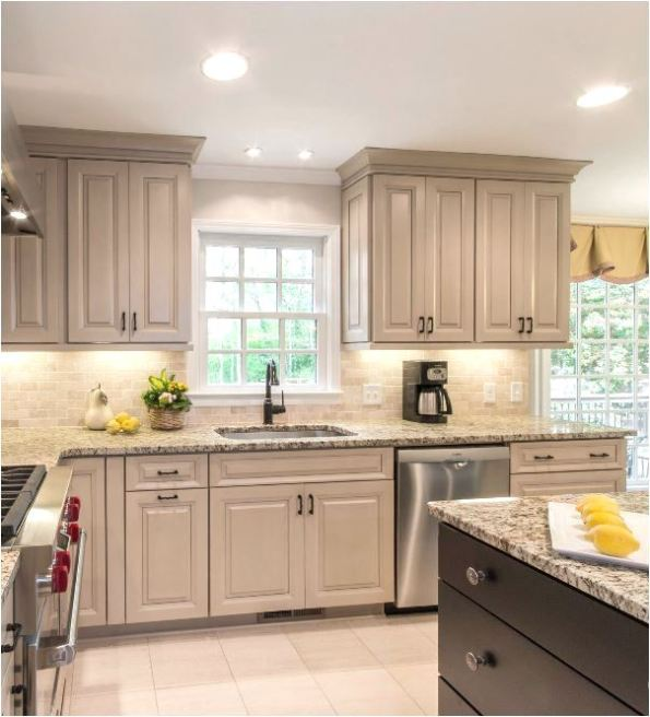 Off White Kitchen Cabinets With Glaze: Taupe Kitchen Cabinets