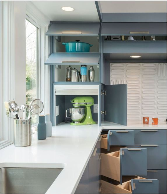 Sleek Appliance Garage: Hiding Small Appliances