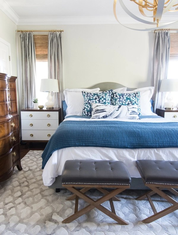 The Bedding Is A Blend Of Pine Cone Hill Euro Shams Coverlet And Brushstroke Pillow Paired With Accent Pillows In My Own Reverie Fabric
