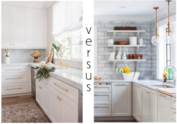 Closed Cabinets v. Open Shelving, Revisited | Centsational Style on open shelving bookcase, open shelving pantry, open shelf kitchen cabinets, open shelving kitchen wall,