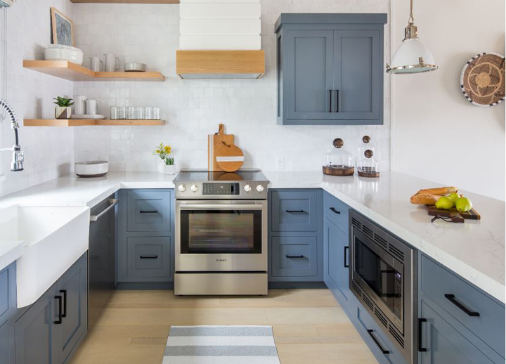 blue cabinet slider