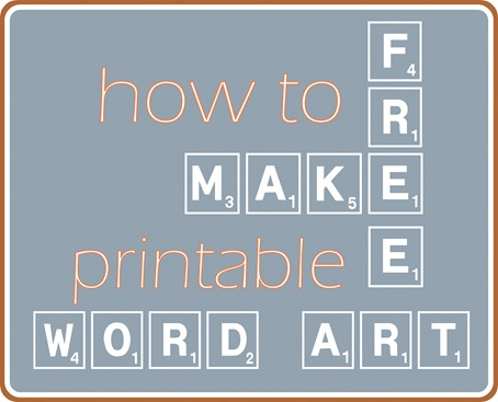 Make Your Own Printable Word Art | Centsational Style