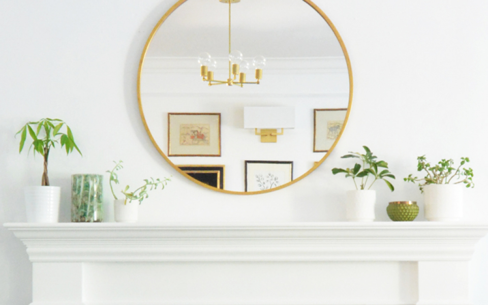 round mantel mirror