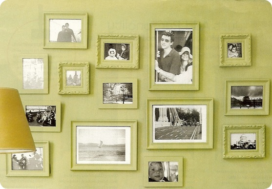Frugal Decorating Tip #1: Unite Frames with Paint | Centsational Style